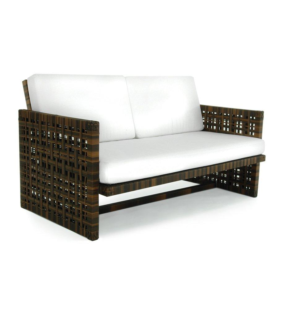 Oasiq Astor Love Seat Outdoor Anthracite powder coated aluminum and all-weather wicker frame