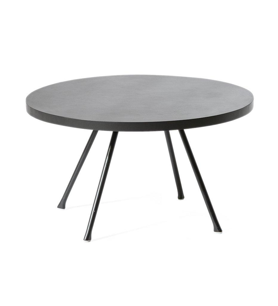 Oasiq Attol Aluminum Side Table Round Outdoor Anthracite powder coated aluminum frame