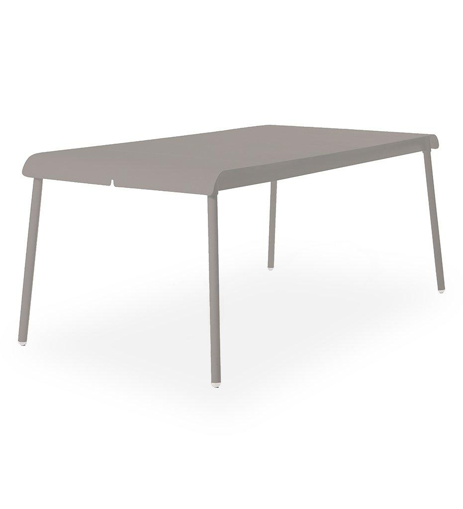 Oasiq | Corail Dining Table - Large | Grey Aluminum | Outdoor