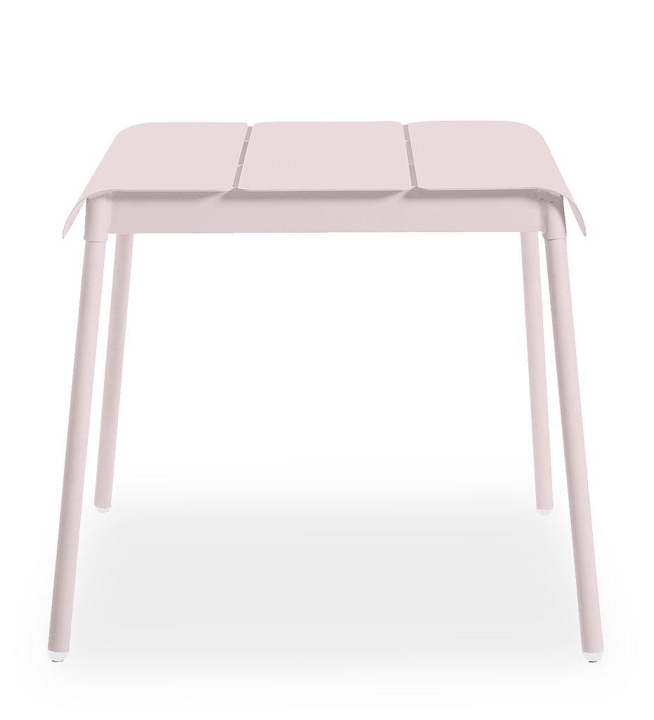 Oasiq | Corail Dining Table - Small | Pink Pastel Aluminum | Outdoor