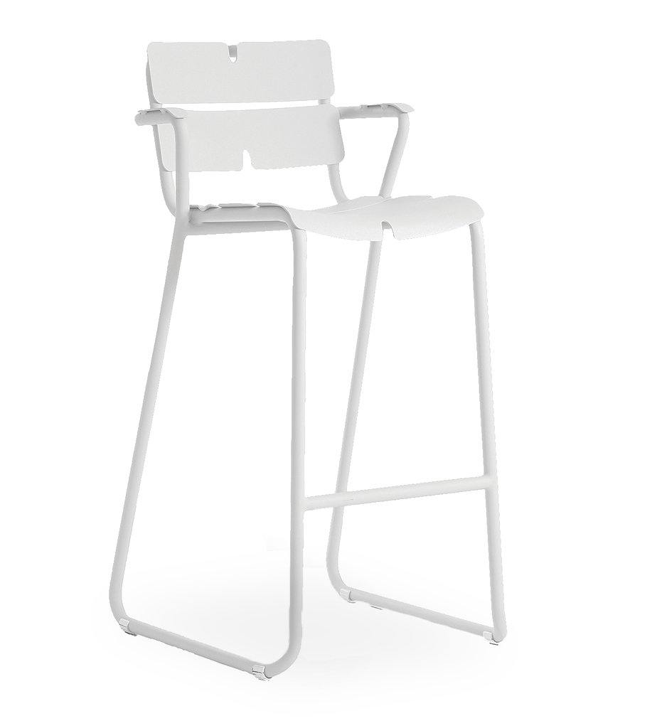 OASIQ White Corail Bar Stool - Arm
