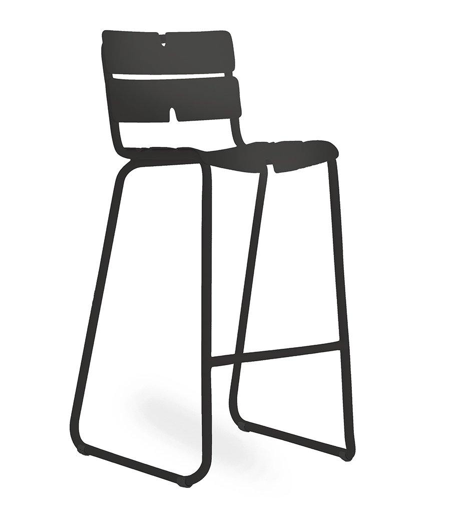 OASIQ Corail Bar Stool in Athricite