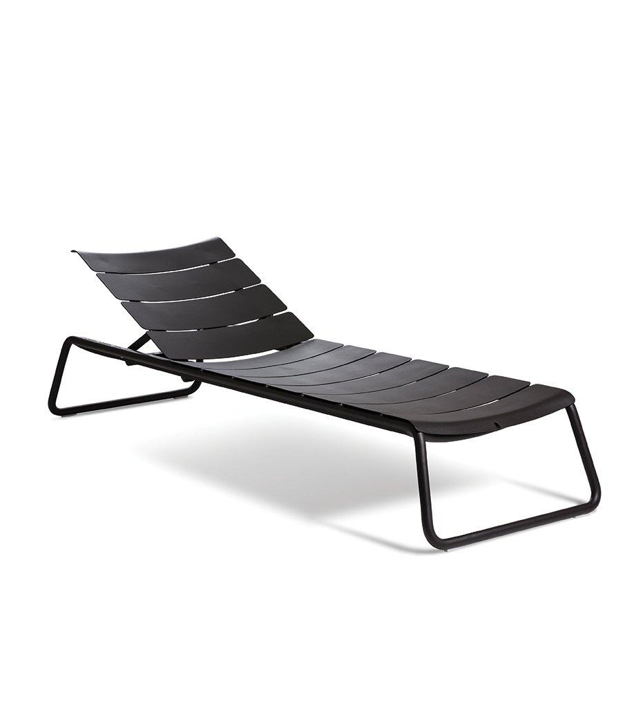 Oasiq, Corail Sun Lounger - Black Anthracite Aluminum, Outdoor