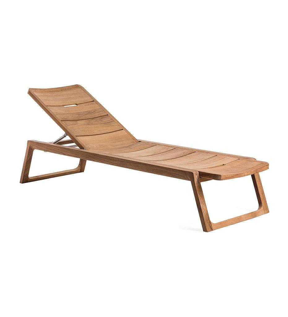 Oasiq, Diuna Adjustable Lounger - Teak, Outdoor