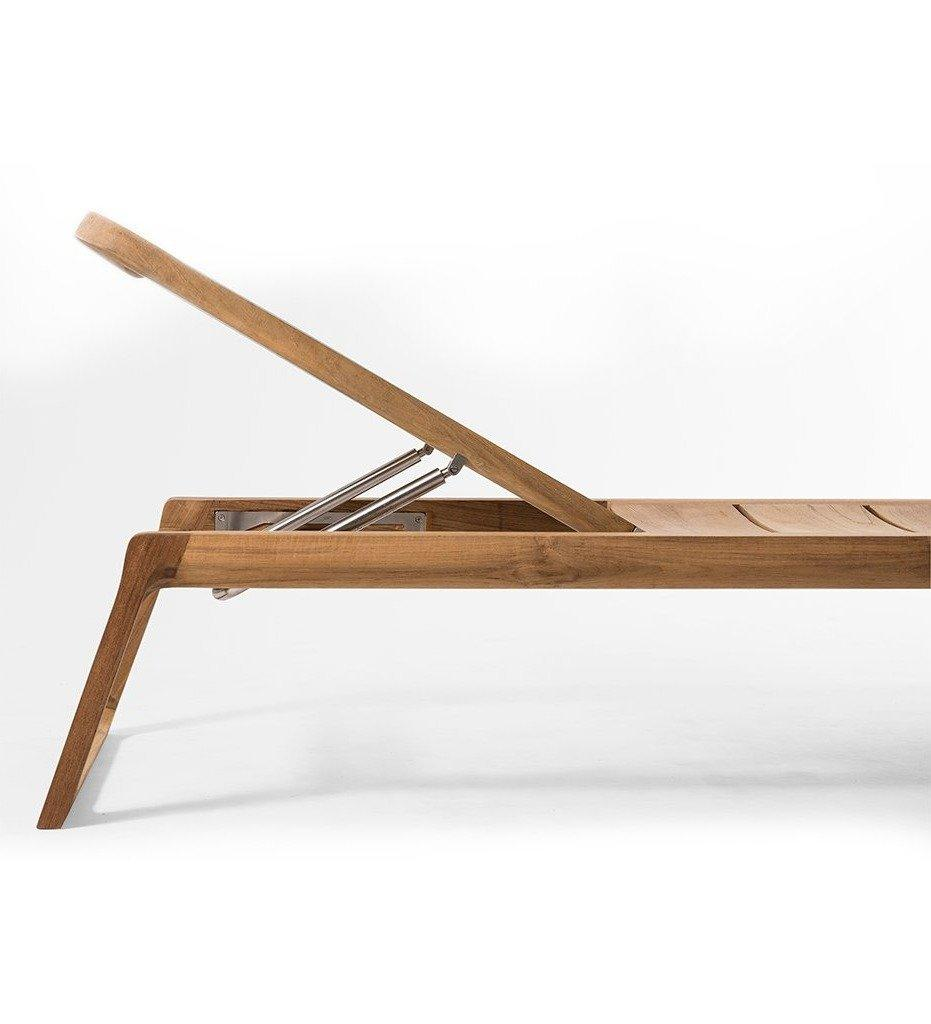 Oasiq, Diuna Adjustable Lounger - Teak, Outdoor - Raised