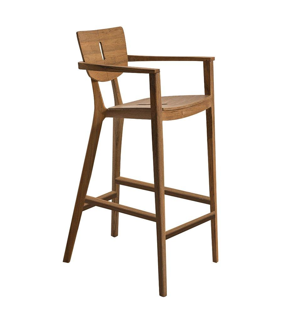 Oasiq | Diuna Bar Stool - Arm | Teak | Outdoor