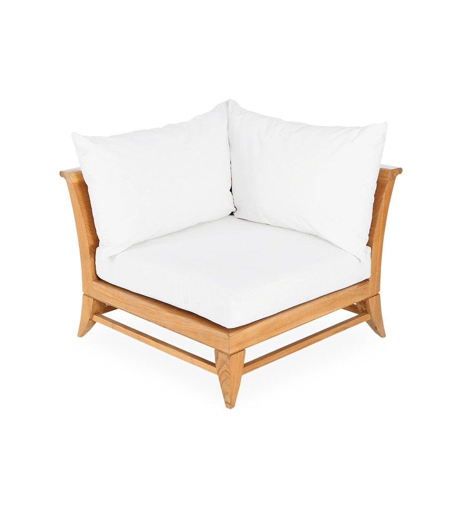 Oasiq | Outdoor | Limited 100 Corner Chair - Left or Right | Canvas White Cushion