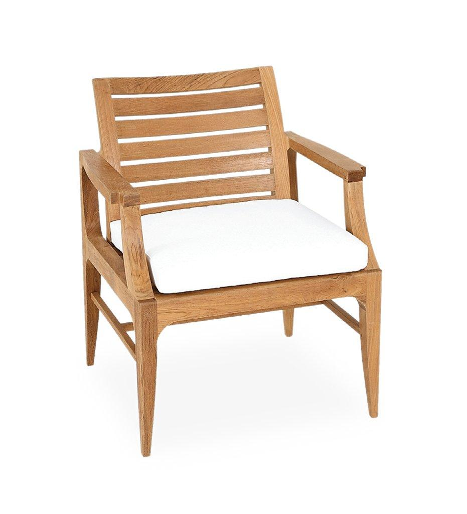 Oasiq | Outdoor | Limited 100 Arm Chair | Teak Frame | Canvas White Cushion