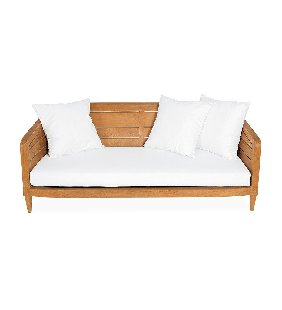 Oasiq | Outdoor | Limited 200 Sofa | Teak Frame and Black Polypropylene Webbing |