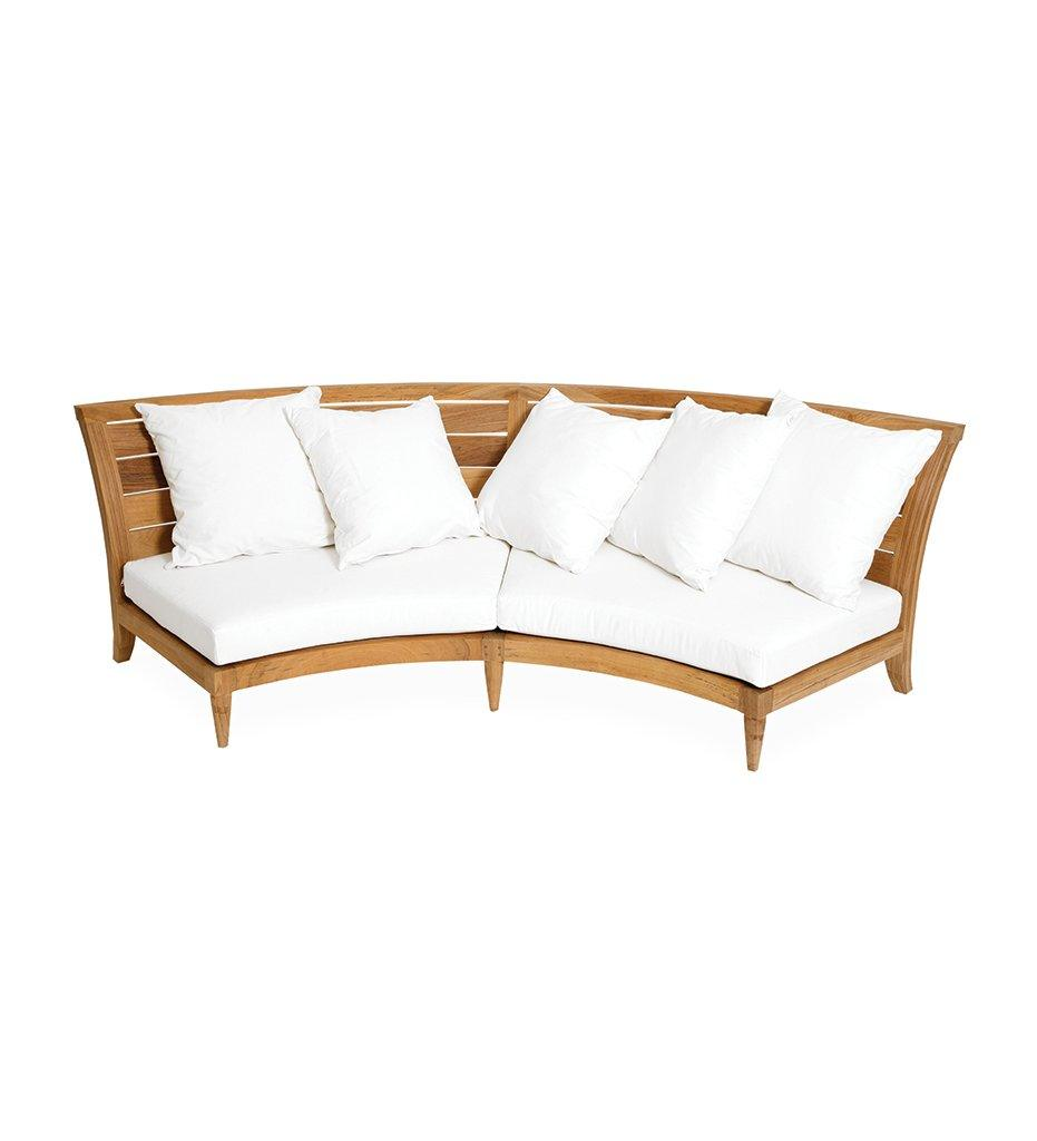 Oasiq | Outdoor | Limited 200 Sectional - Center | Teak Frame and Black Polypropylene Webbing