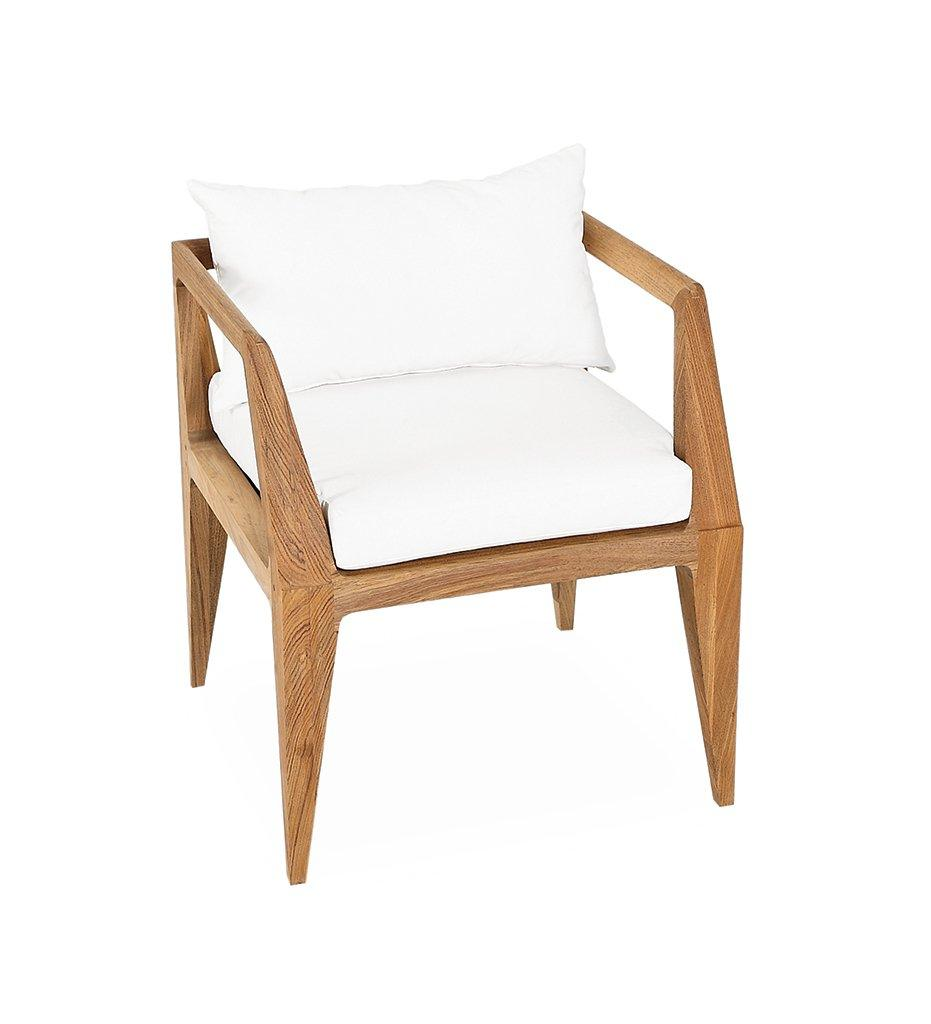 Oasiq | Outdoor | Limited 300 Arm Chair | Teak Frame | Black Polypropylene Webbing