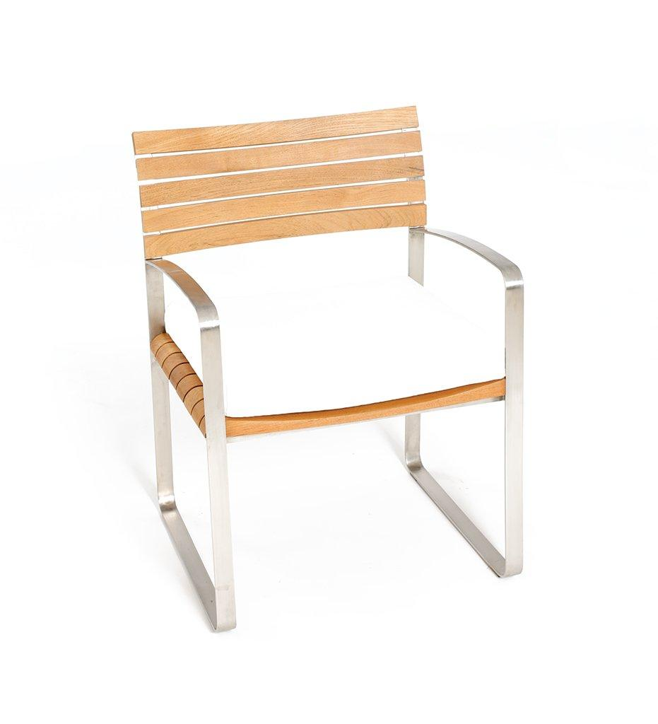 Oasiq | Outdoor | Limited 400 Arm Chair | Teak and Stainless Steel Frame