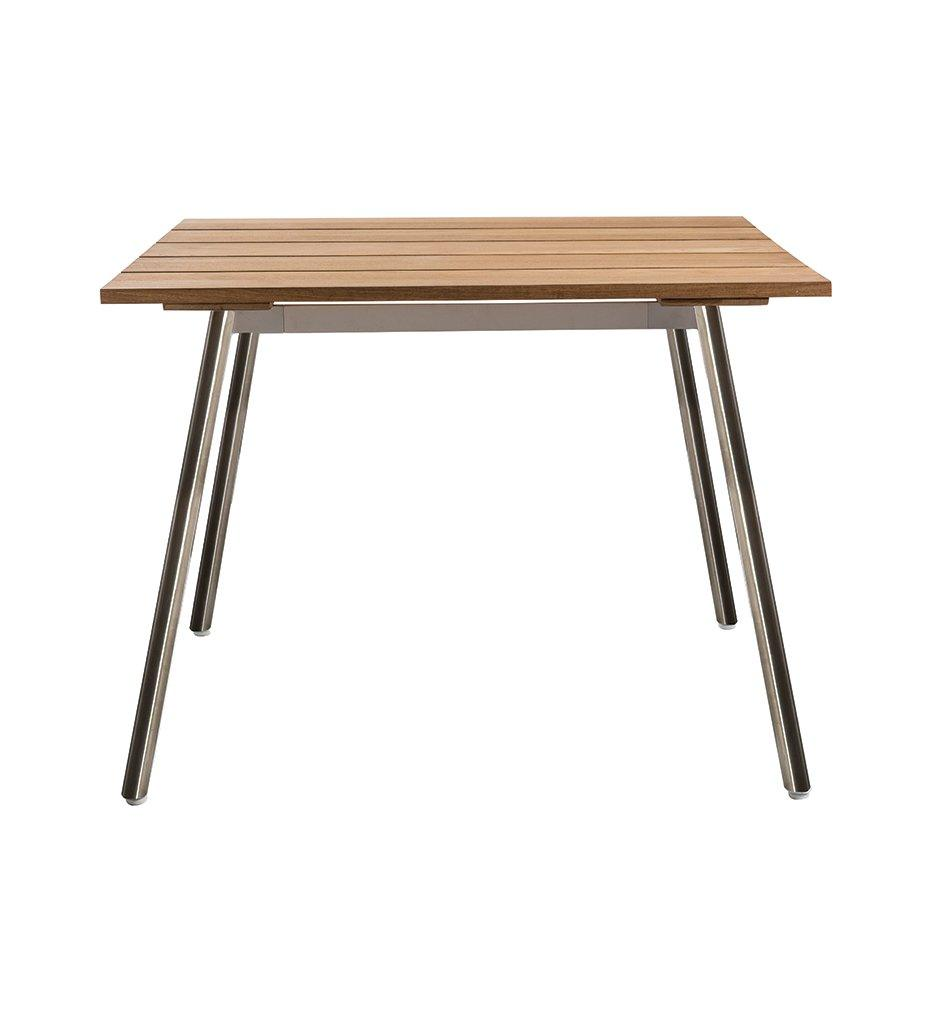 Reef Square Dining Table - Stainless Base