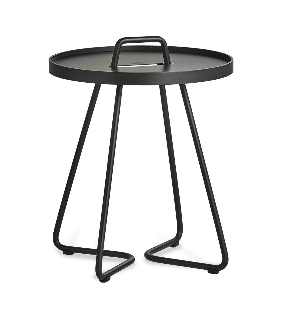 On the Move Outdoor Aluminum Side Table - Small - Black 5065AS