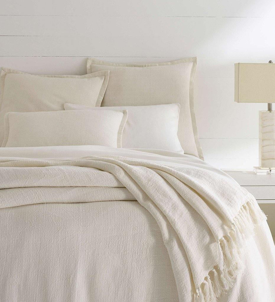 Pine Cone Hill Amadora Linen Ivory Coverlet
