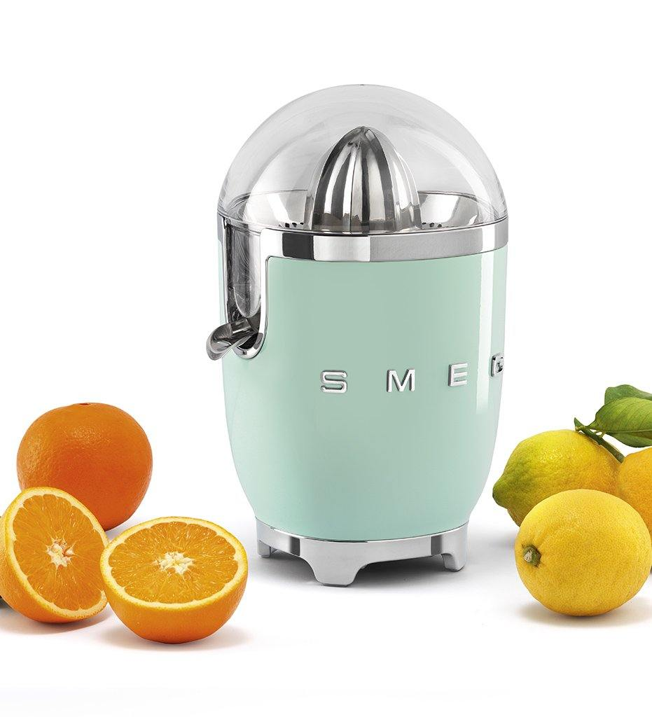 lifestyle, SMEG pastel green citrus juicer