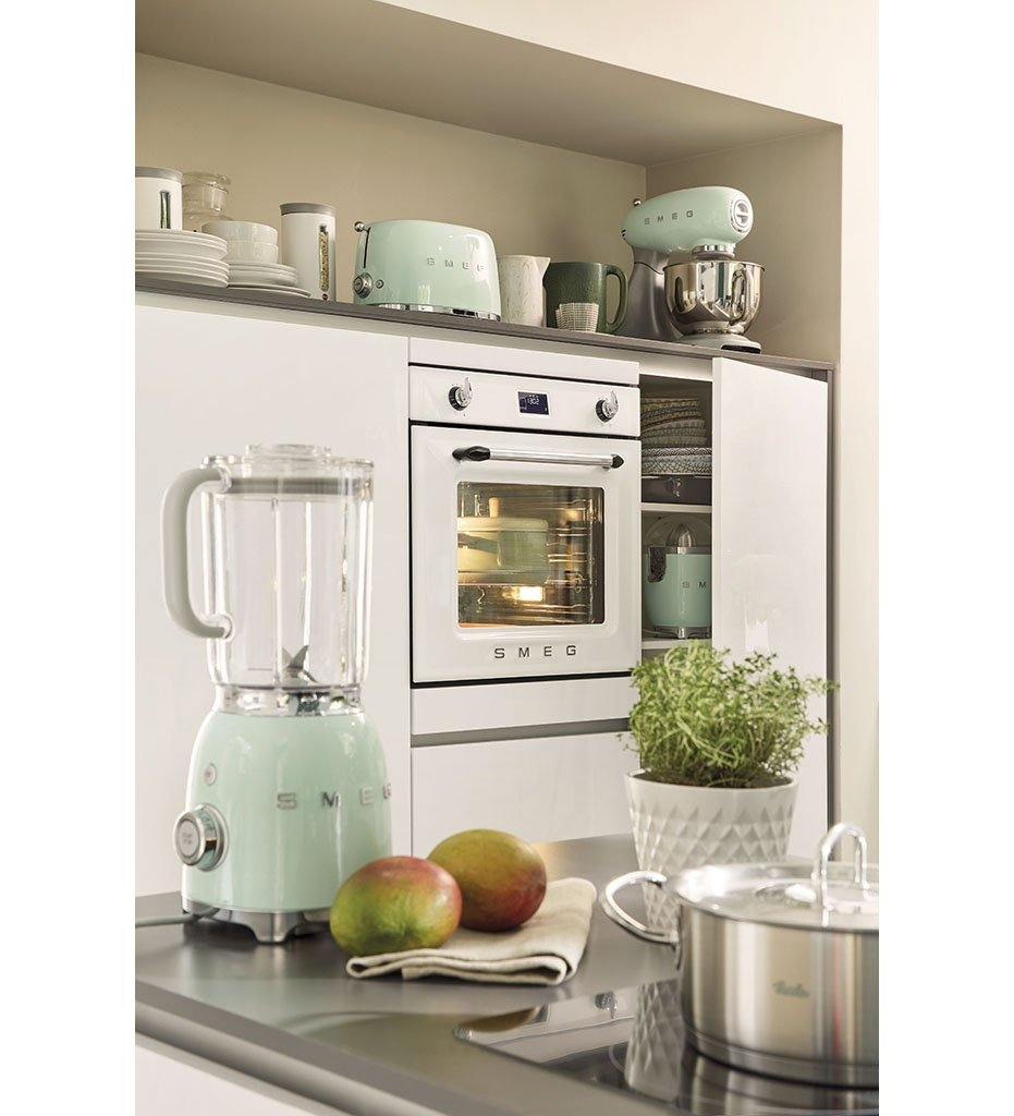 lifestyle, SMEG pastel green kitchen appliances