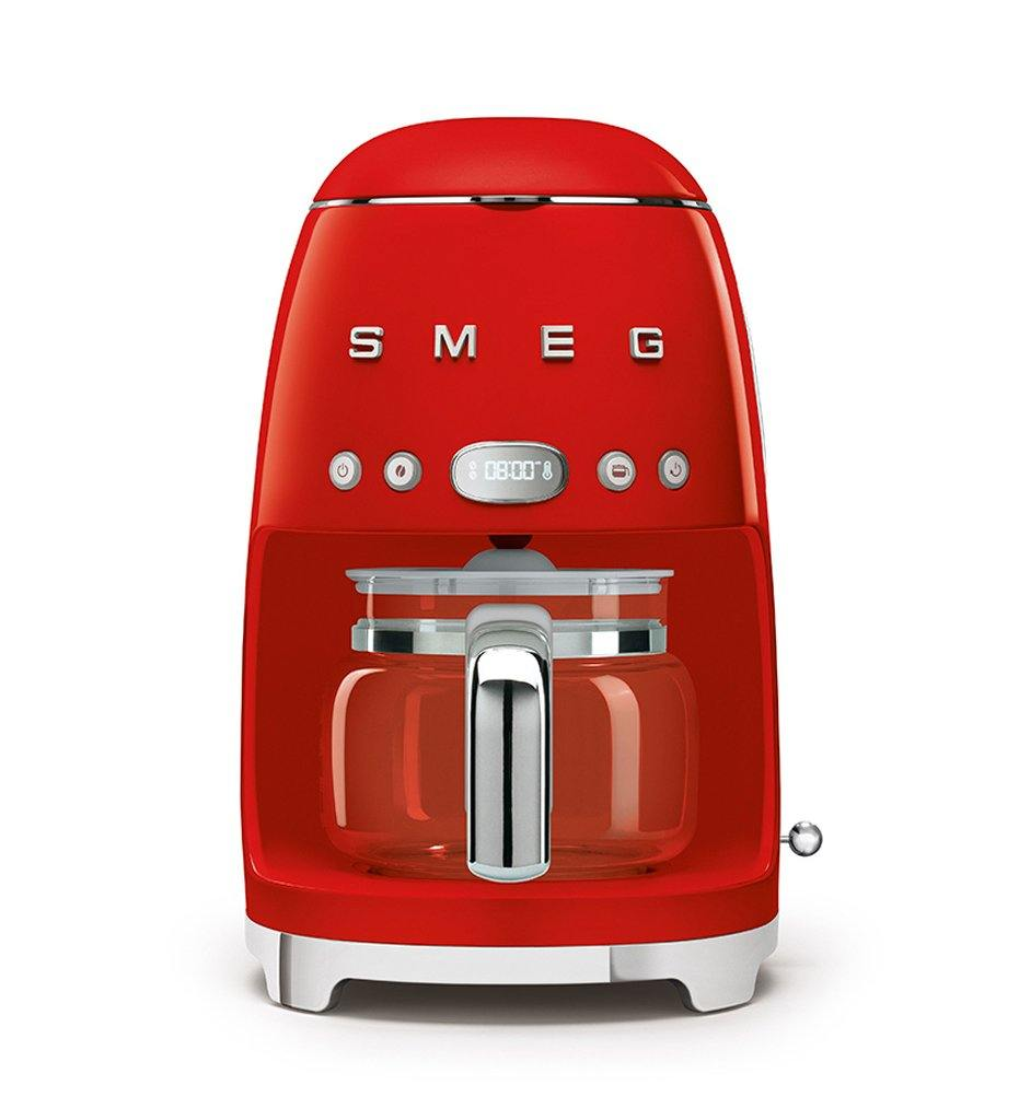 SMEG red drip filter coffee machine