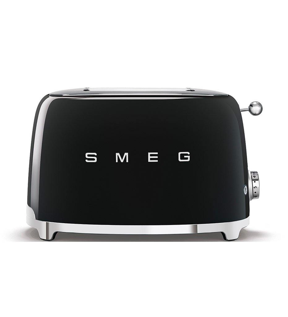 SMEG black 2-slice toaster