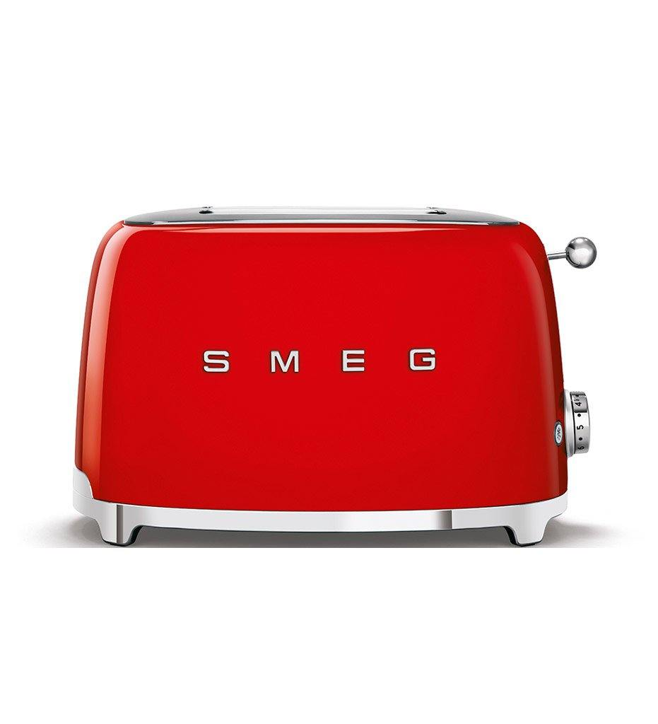 SMEG red 2-slice toaster