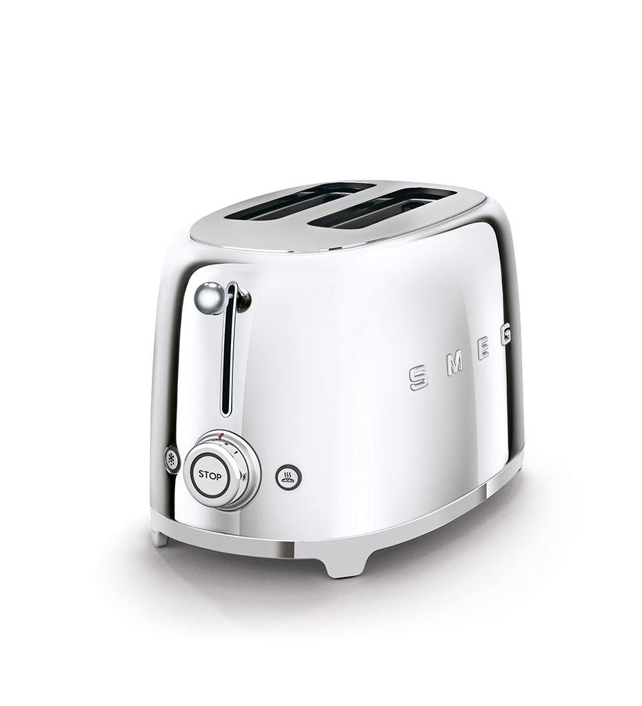 SMEG stainless steel 2-slice toaster