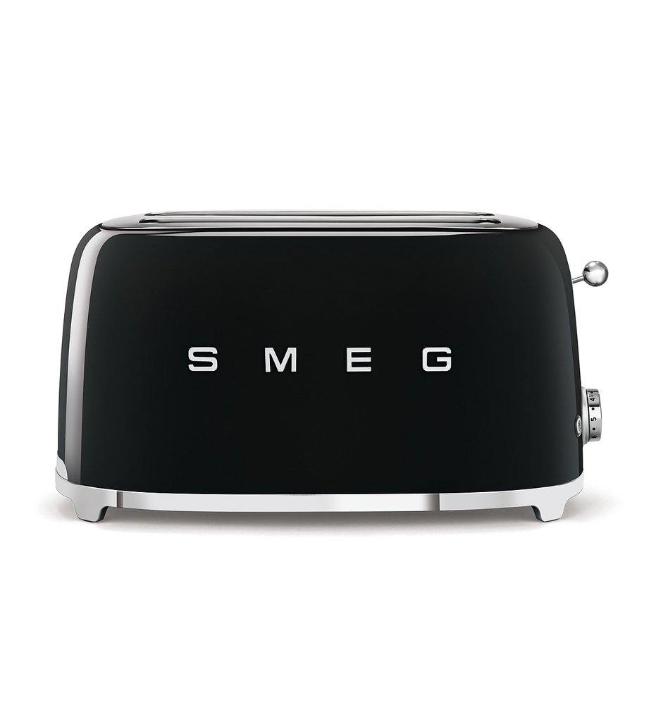 SMEG black 4x2-slice toaster