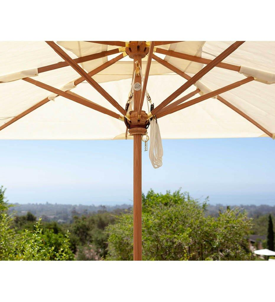 Juniper House-Santa Barbara Designs-Montecito Rectangle Teak Umbrella