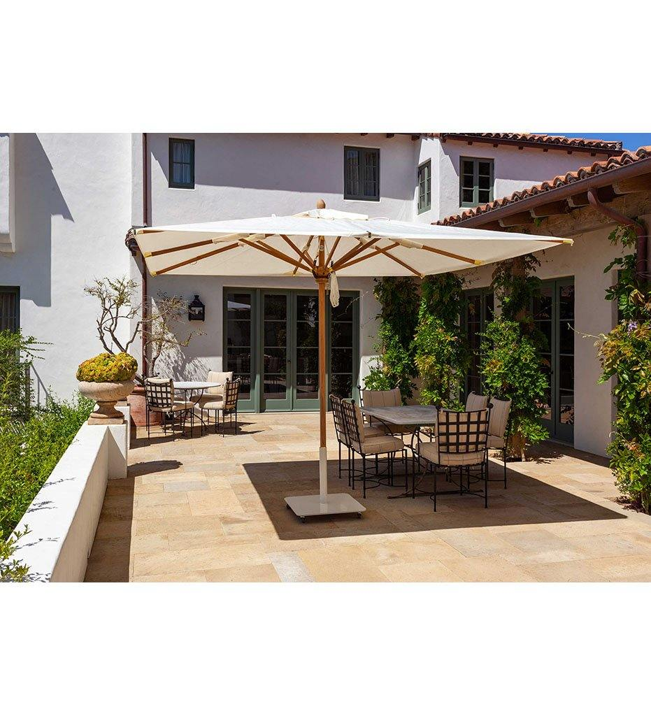 Juniper House-Santa Barbara Designs-Montecito-Square Wood Umbrella