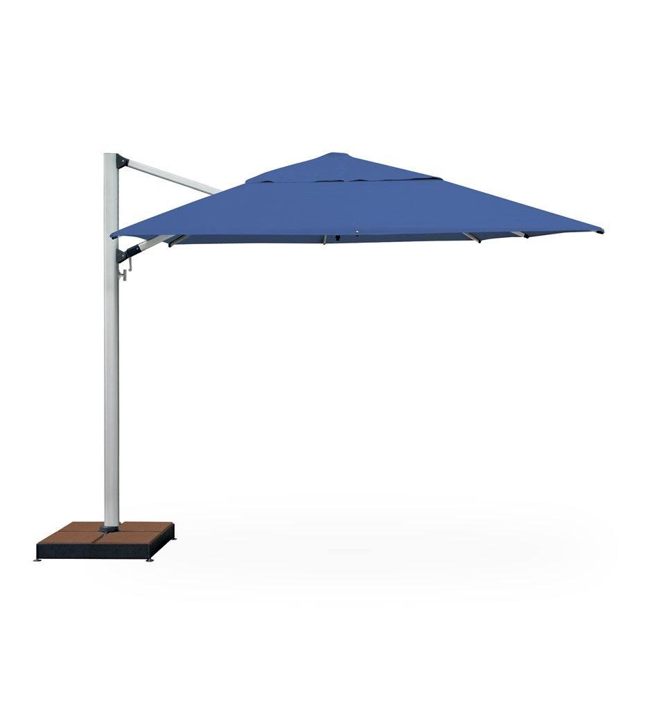 "Juniper House-Shademaker-9'9"" Polaris Square Cantilever Umbrella"