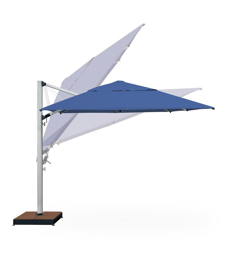 "Juniper House-Shademaker-11'5"" Polaris Square Cantilever Umbrella"