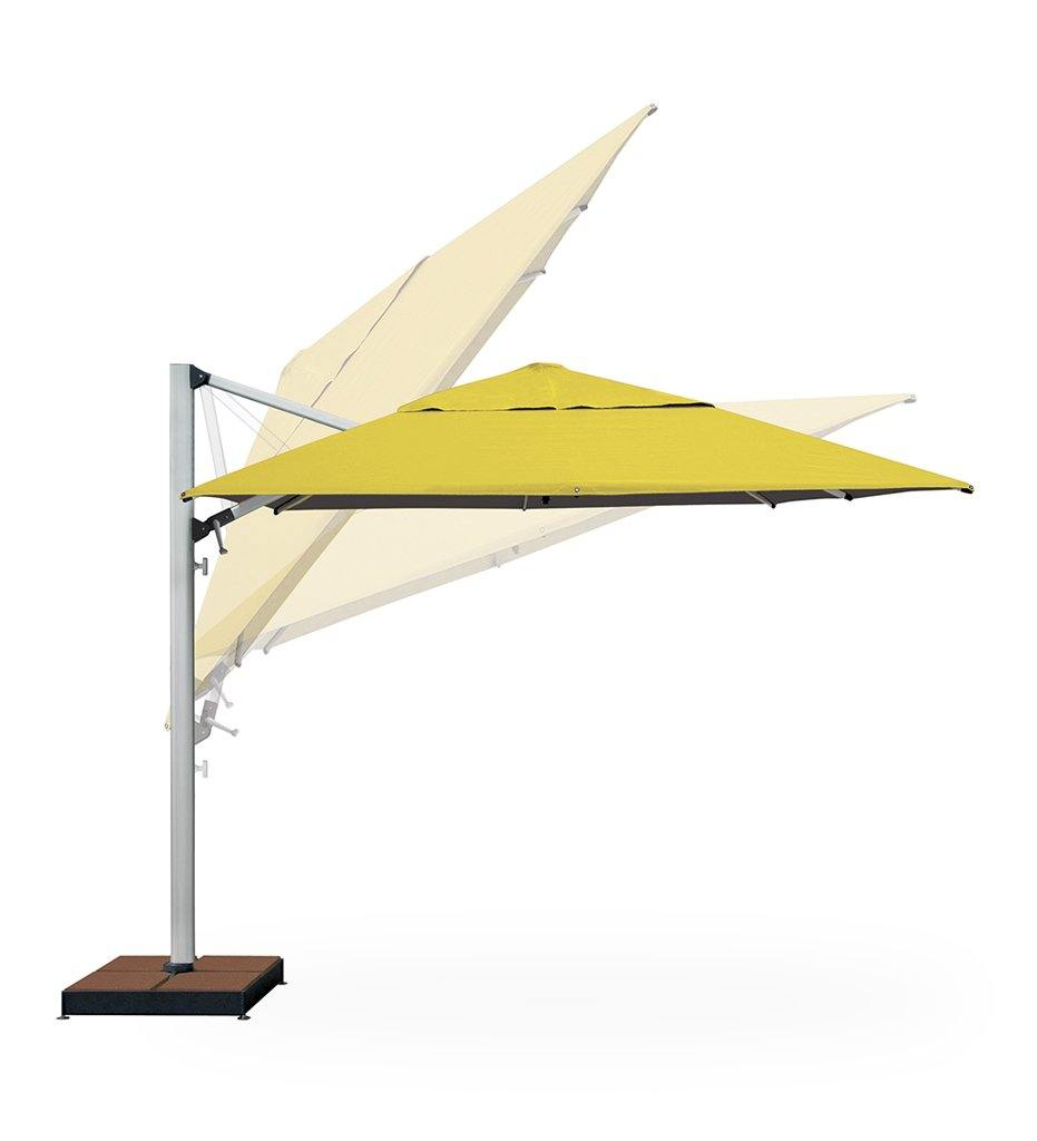 "Juniper House-Shademaker-13' 1"" Polaris Square Cantilever Umbrella"