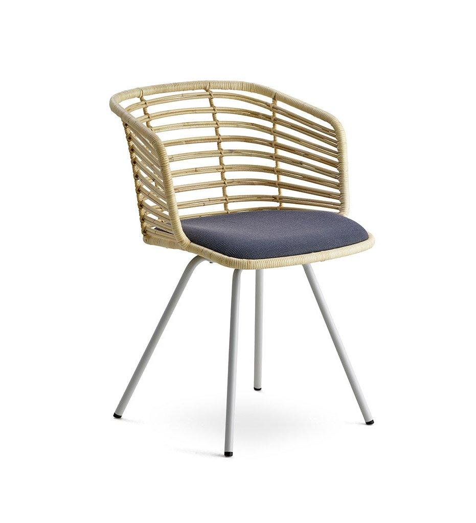 Cane-line Spin Chair in Natural Rattan with Grey Cushion 7434SWRU YSN95
