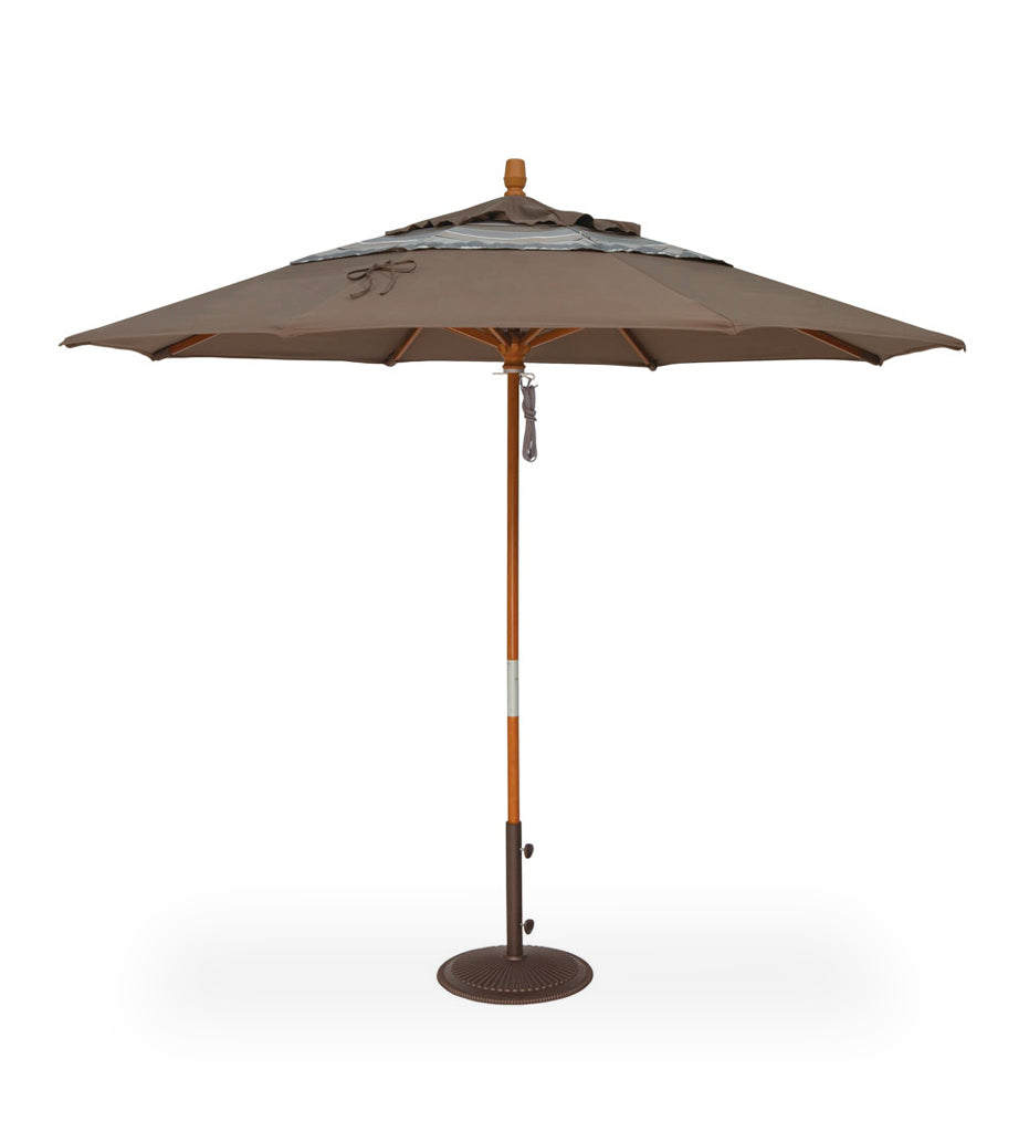 Juniper_House-Treasure_Garden-9' Quad Pulley Round Wood Umbrella