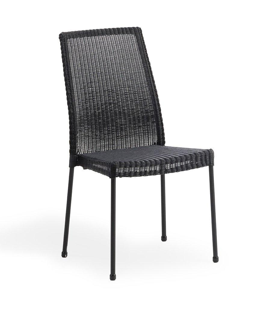 Cane-line Newport Outdoor Black All-Weather Weave Rattan Dining Chair 5432LS