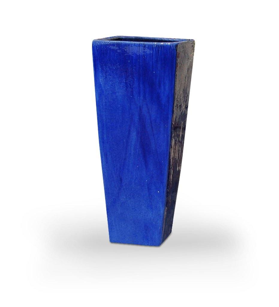 Asian Ceramics Blue Extra Tall Square Planter