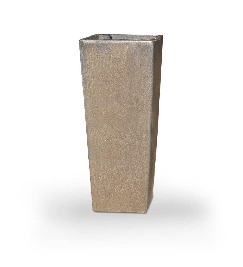 Asian Ceramics Bronze Extra Tall Square Planter
