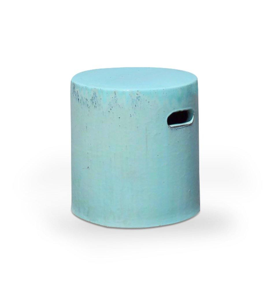 Asian Ceramics Aqua Round Garden Stool