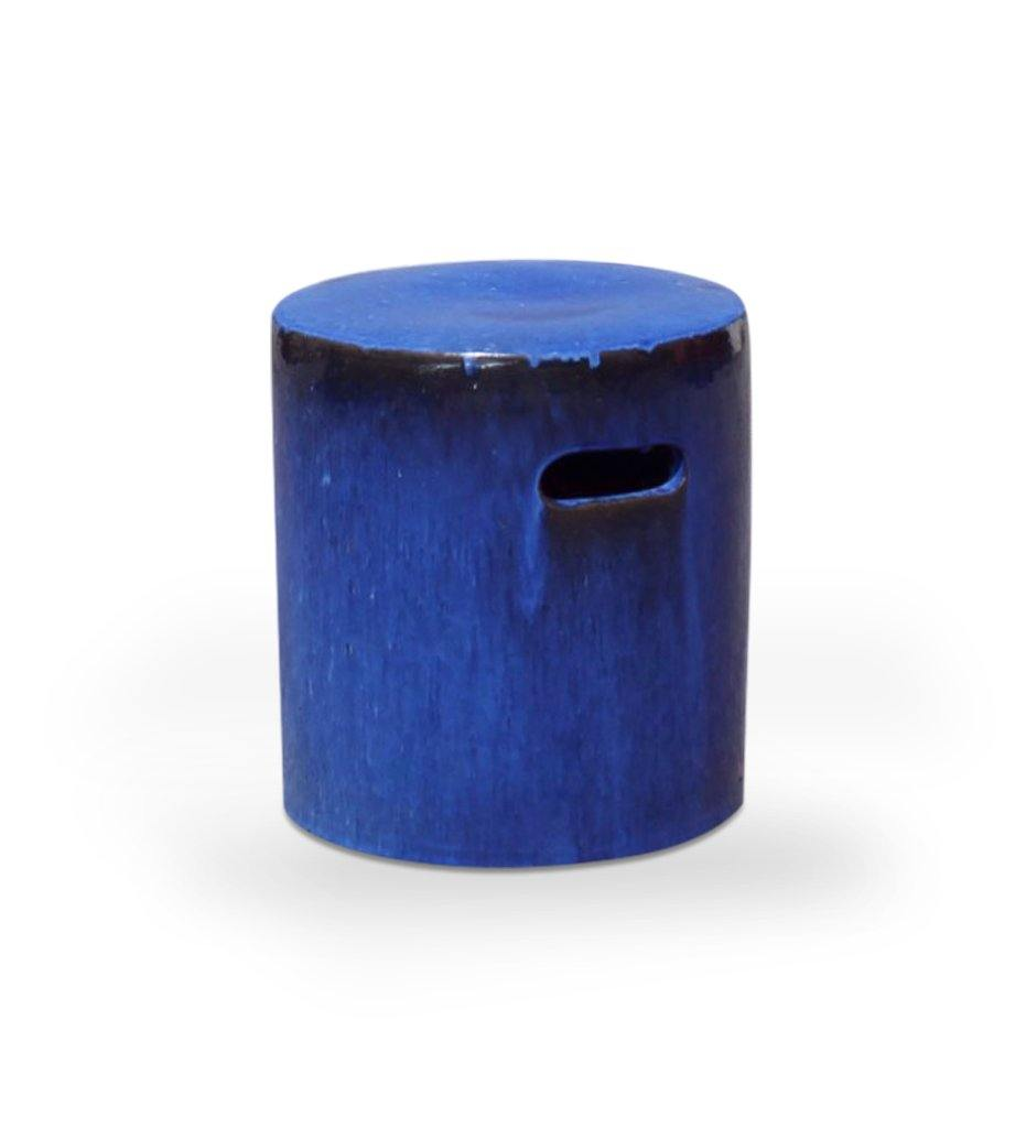 Asian Ceramics Blue Round Garden Stool