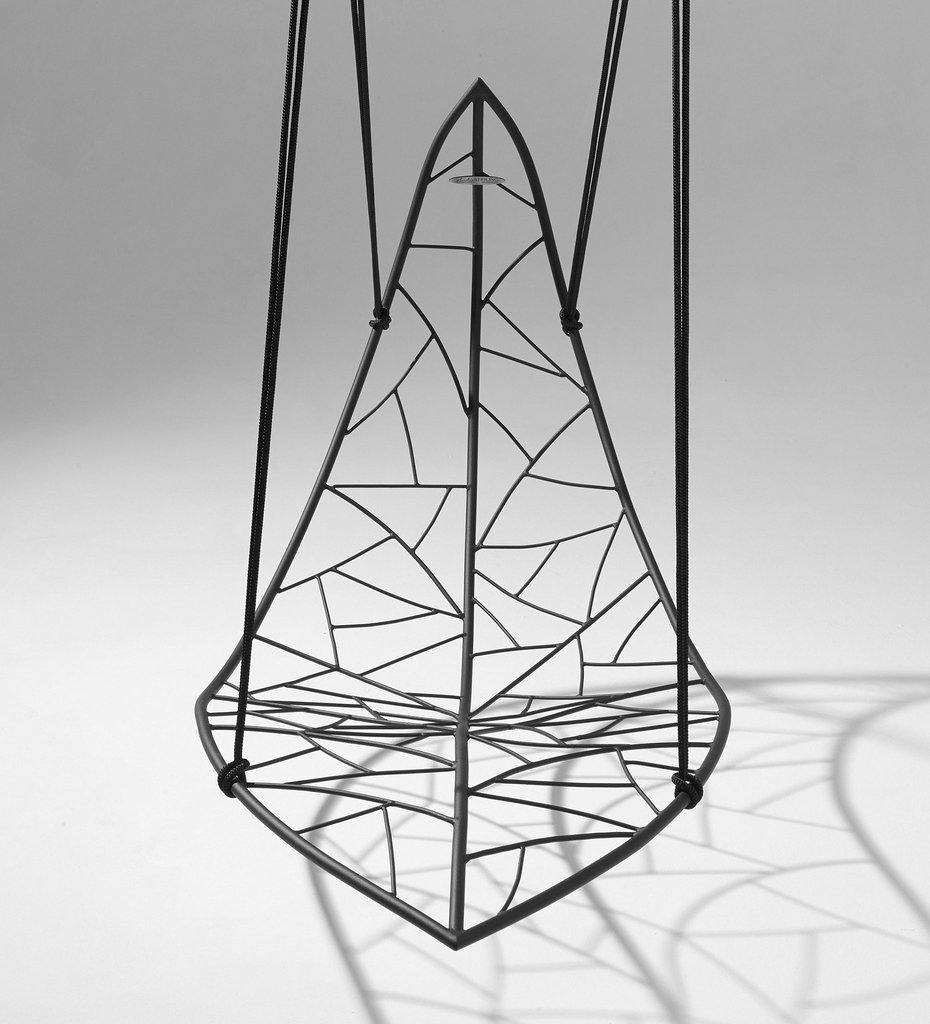 Studio Stirling Leaf Vein Hanging Swing Chair