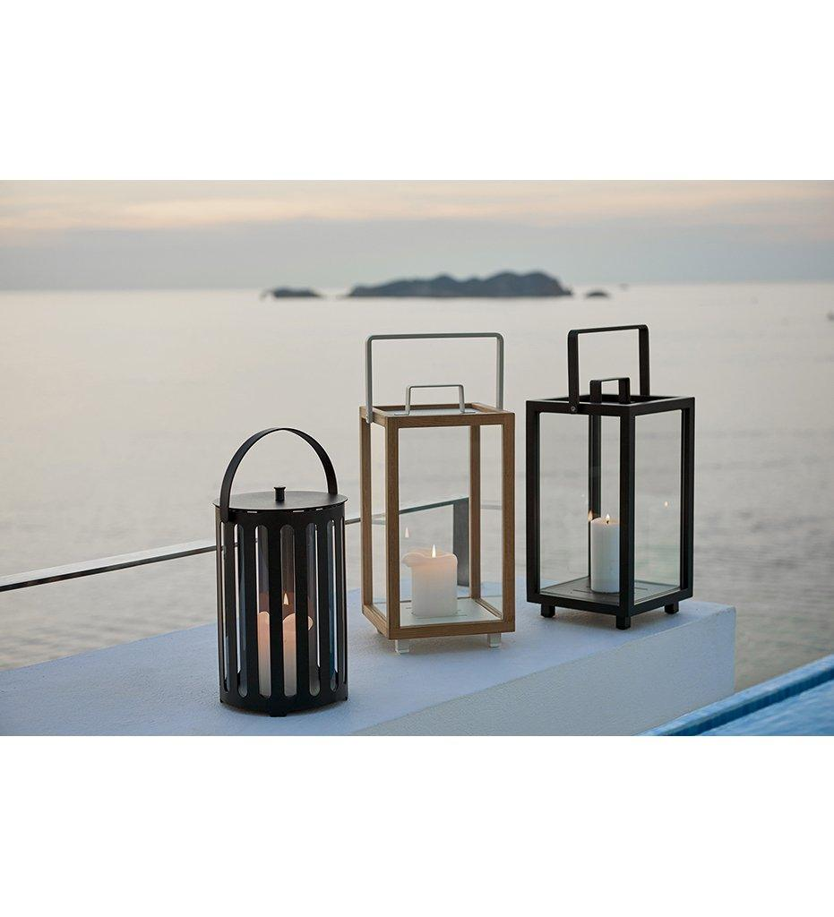 Cane-line Lighttube Outdoor Lantern in Lava Grey Aluminum 5740AL