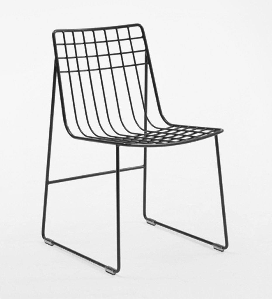 Almeco Lionel Dining Side Chair Outdoor Wire Graphite