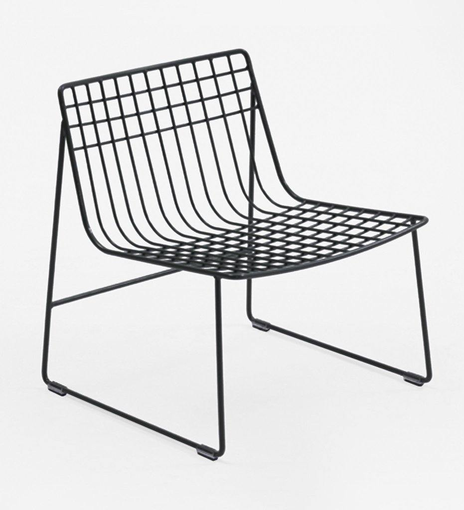 Almeco Lionel Lounge Chair Outdoor Wire Graphite