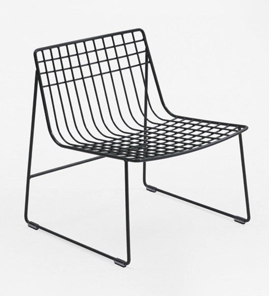 Almeco Lionel Lounge Chair Outdoor Wire Grey