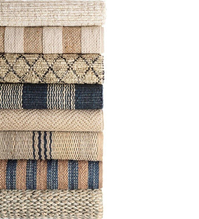 lifestyle, Dash and Albert Milo Ivory Woven Jute/Cotton Rug