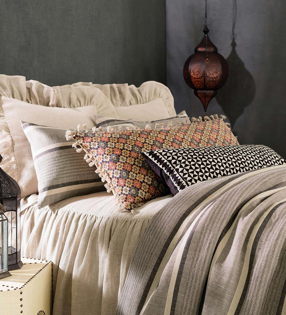 lifestyle, Annie Selke Morocco Linen Java Pillow Sham