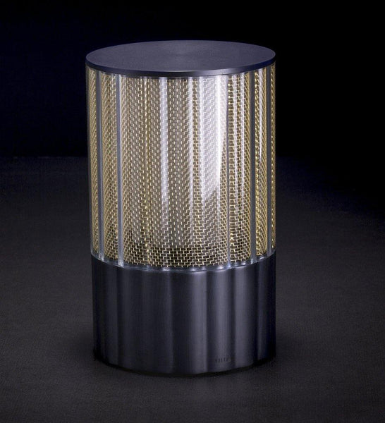 Voltra | Reeded | Antique Bronze | 100mm Rechargeable Lighting | Lighting On
