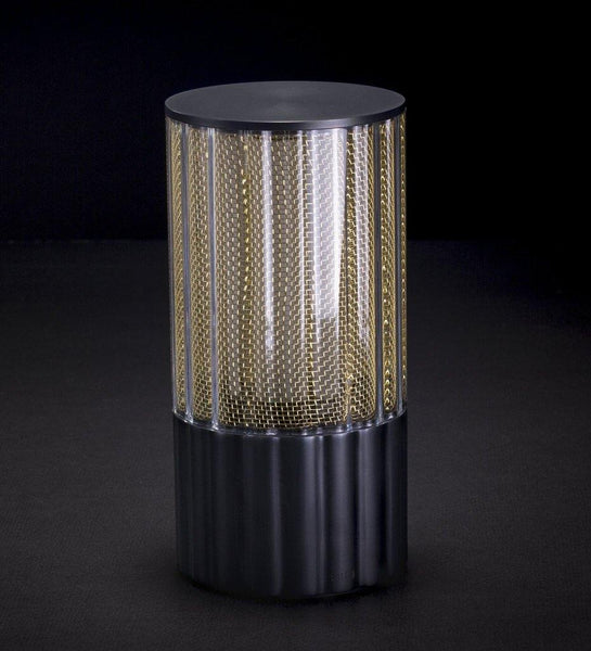 Voltra | Reeded | Antique Bronze | 80mm Rechargeable Lighting | Lighting On