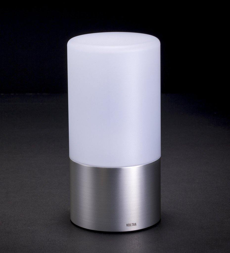 Voltra Lighting | Frosted | Satin Nickel | 80mm Rechargeable Lighting | Lighting Off