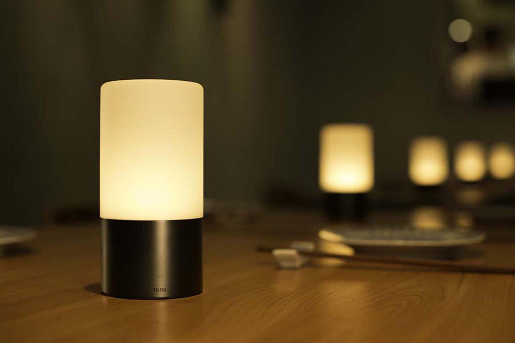 lifestyle, Voltra Lighting | Frosted Table Light | 80mm Rechargeable | Ambient Lighting
