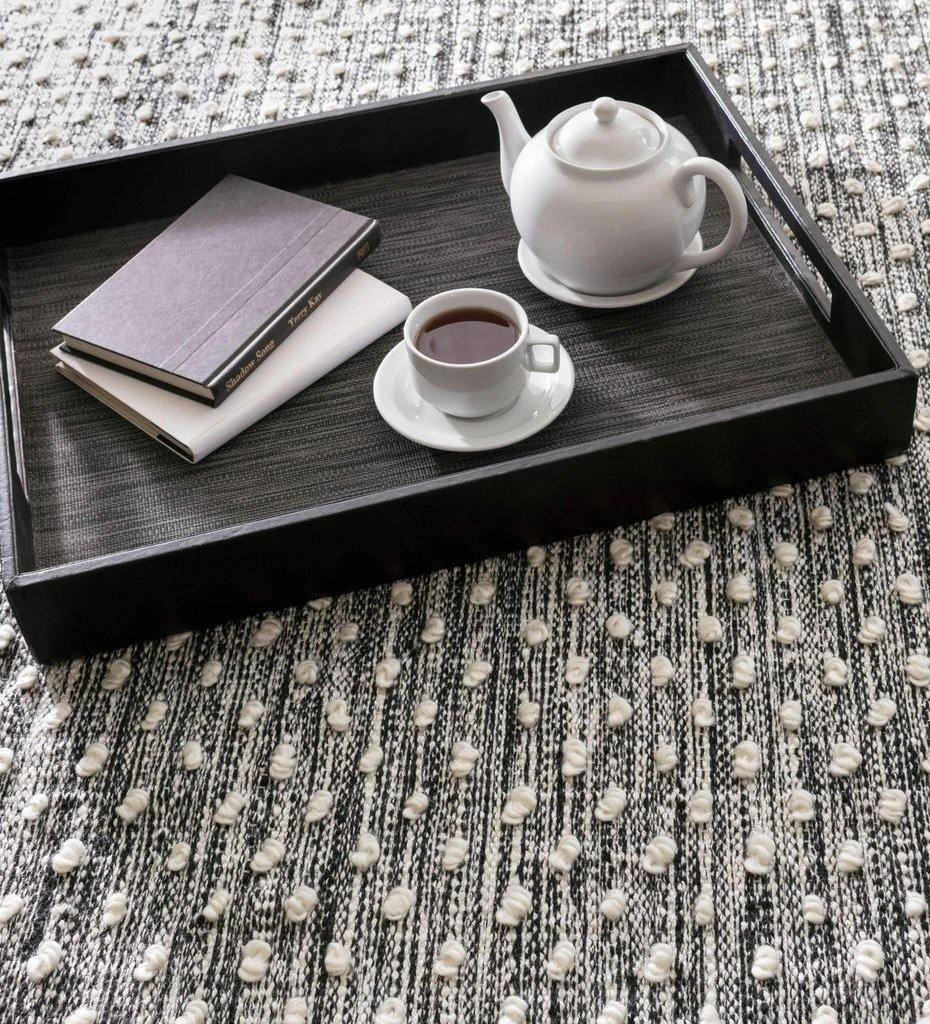 lifestyle, Dash and Albert Hobnail Black Indoor/Outdoor Rug
